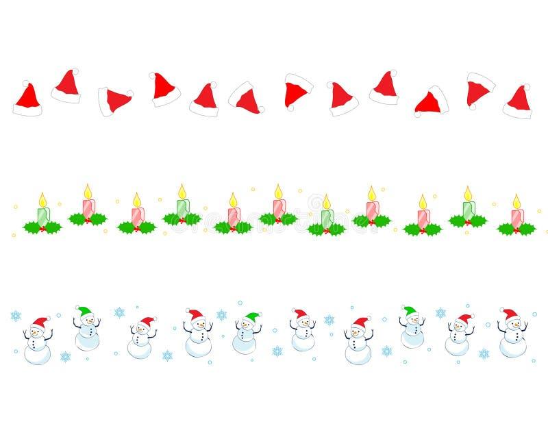 Weihnachtsrandteiler vektor abbildung
