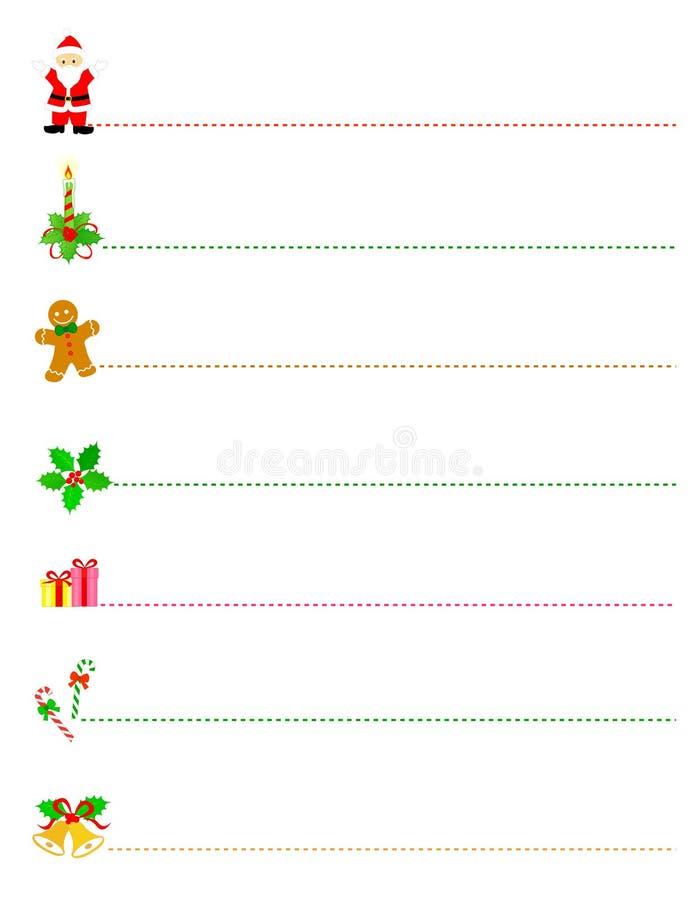 Weihnachtsrandteiler lizenzfreie abbildung