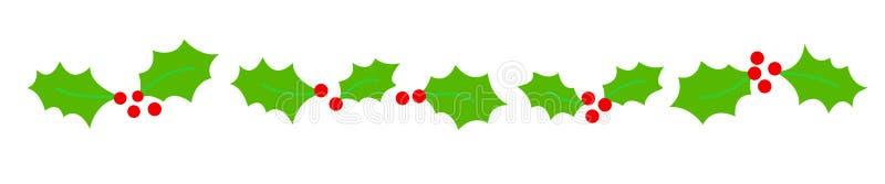 Weihnachtsrandteiler stock abbildung