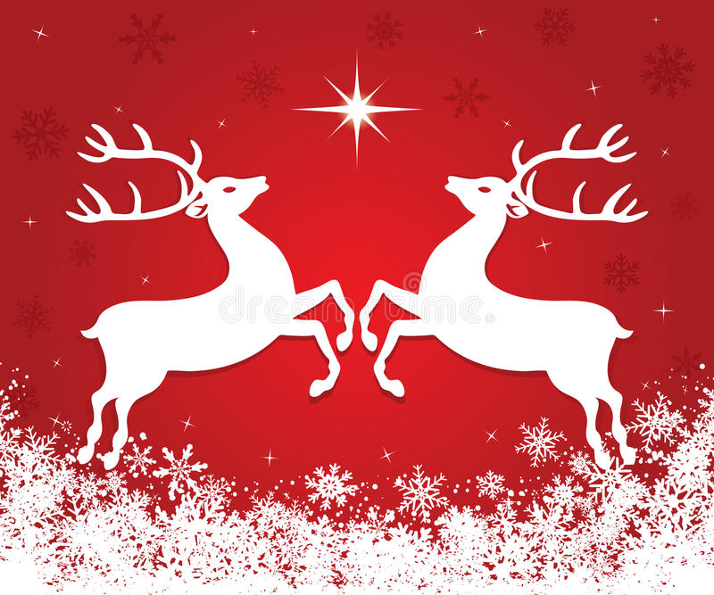 Weihnachtsren stock abbildung