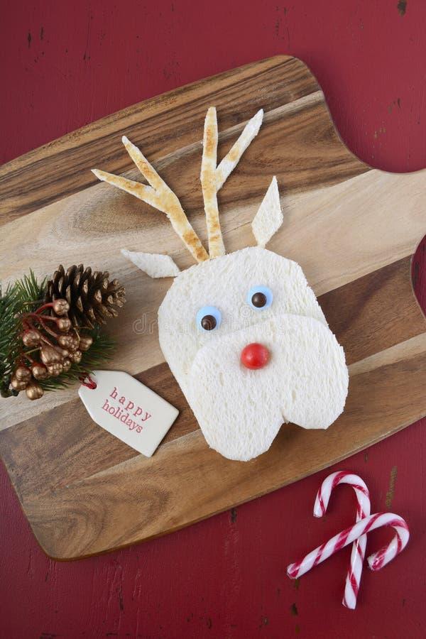 Weihnachtsren-Gesichts-Sandwich stockfotografie