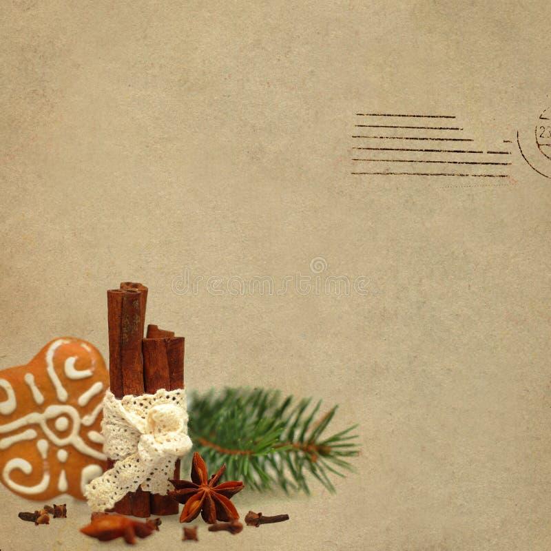 Download WeihnachtsRetro- Hintergrund Stockfoto - Bild von schmutzig, gewürz: 27729046