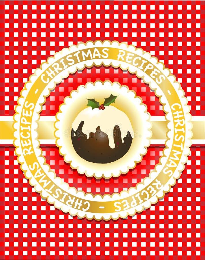 Weihnachtsrezeptbuch lizenzfreie abbildung
