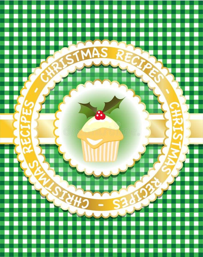 Weihnachtsrezeptbuch, grün vektor abbildung