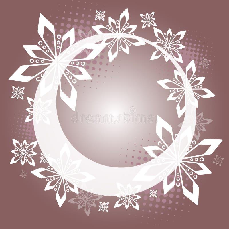 Weihnachtsring - Purpur stock abbildung