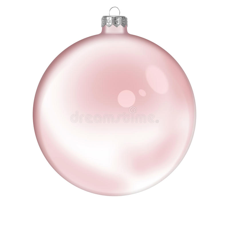 Weihnachtsrote transparente Glaskugel lizenzfreies stockfoto