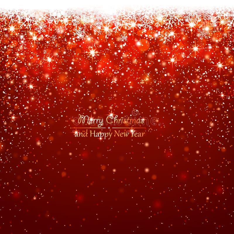 Weihnachtsrothintergrund stock abbildung