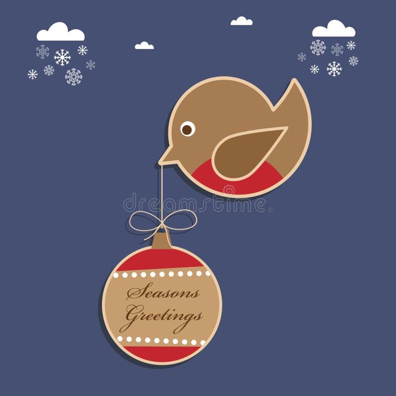 Weihnachtsrotkehlchen lizenzfreie abbildung