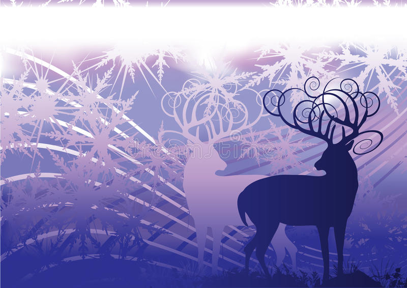 Weihnachtsrotwild stock abbildung
