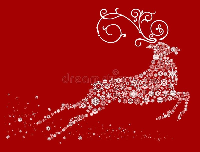 Weihnachtsrotwild vektor abbildung