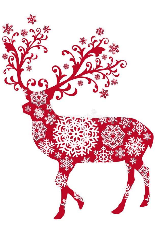 Weihnachtsrotwild, Vektor lizenzfreie abbildung