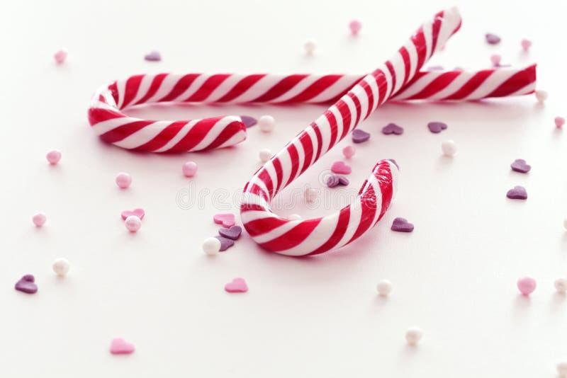 Weihnachtssüßigkeitsteuerknüppel lizenzfreie stockfotografie