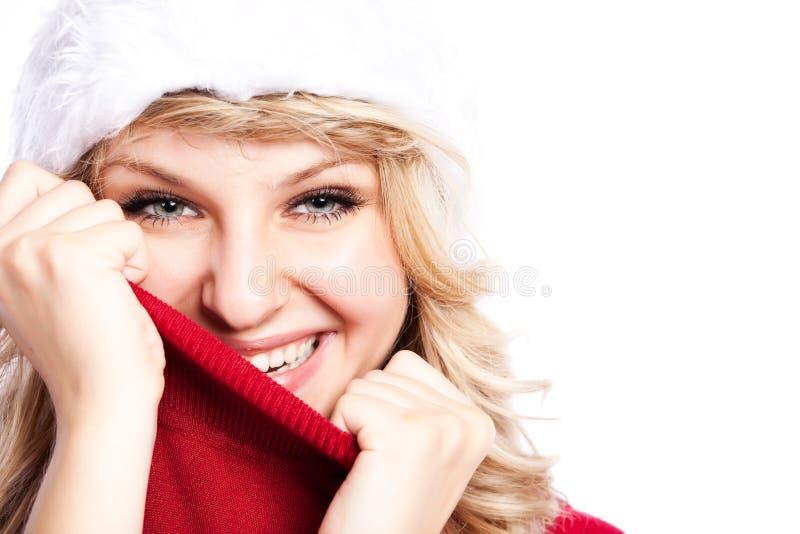 Weihnachtssankt-Mädchen stockfotografie