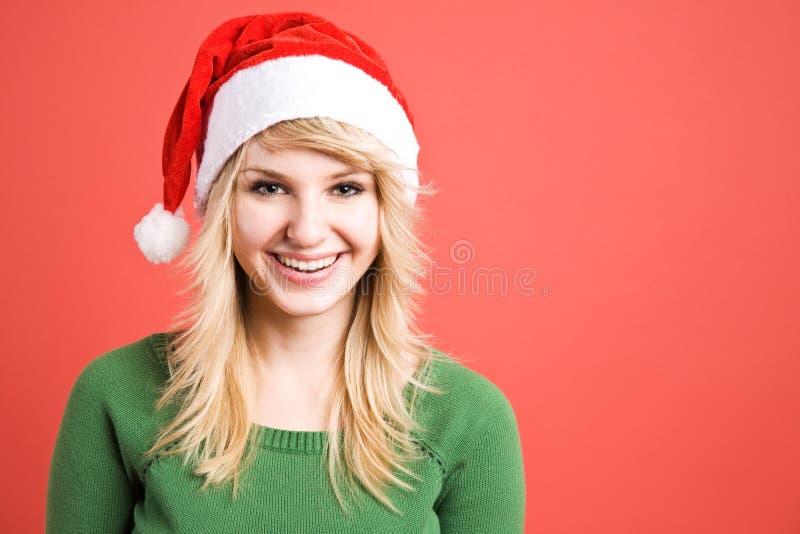 Weihnachtssankt-Mädchen lizenzfreie stockfotografie