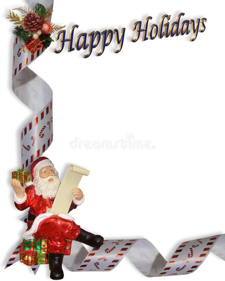 Weihnachtssankt-Rand-Abbildung lizenzfreie abbildung