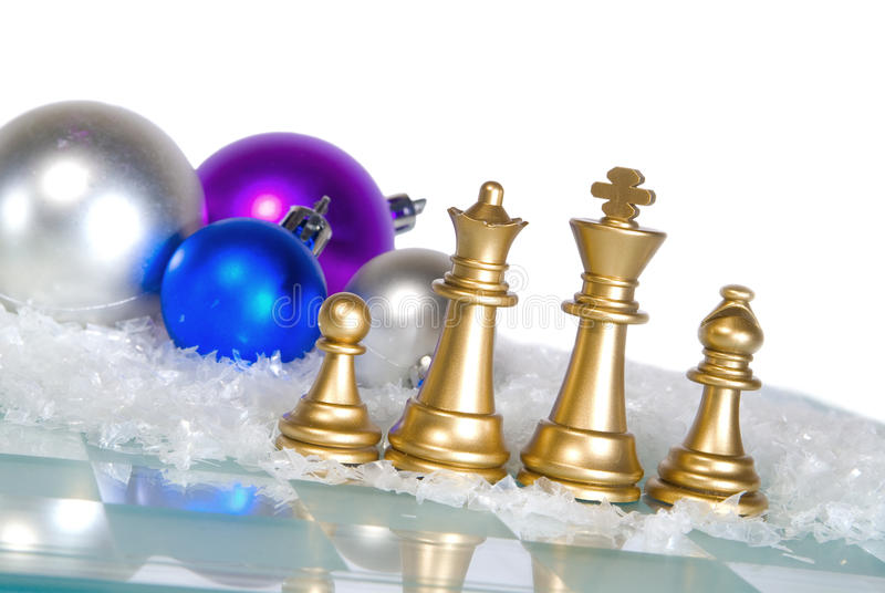 Weihnachtsschach stockbild