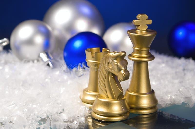 Weihnachtsschach lizenzfreie stockfotografie