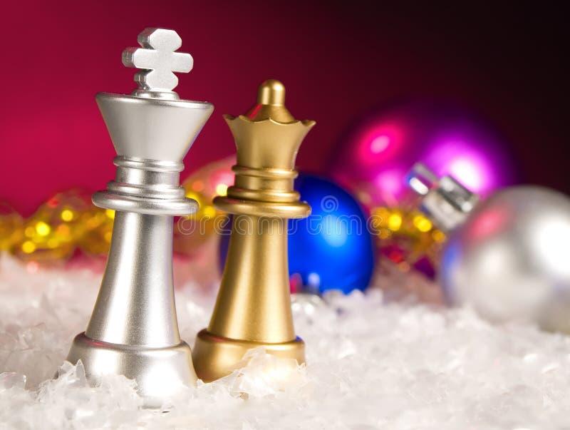 Weihnachtsschach lizenzfreies stockfoto