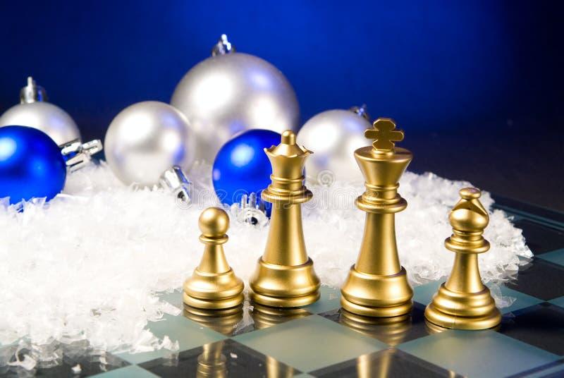 Weihnachtsschach stockbilder