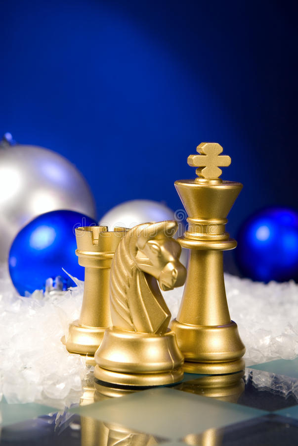 Weihnachtsschach lizenzfreies stockbild