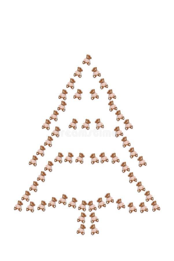 Weihnachtsschattenbild stockbild