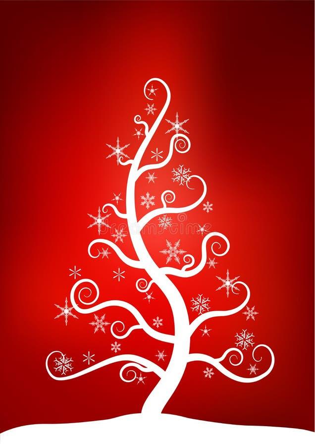 Weihnachtsschnee-Baum lizenzfreie abbildung