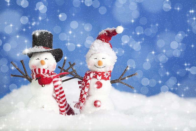 Weihnachtsschnee-Leute stockbilder