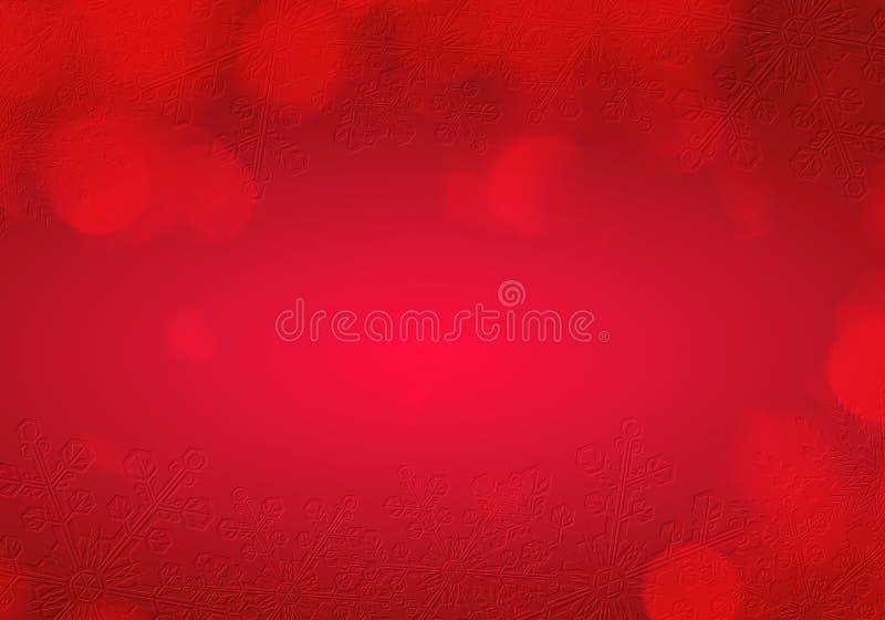 Weihnachtsschnee-Szenenrot lizenzfreie stockfotos