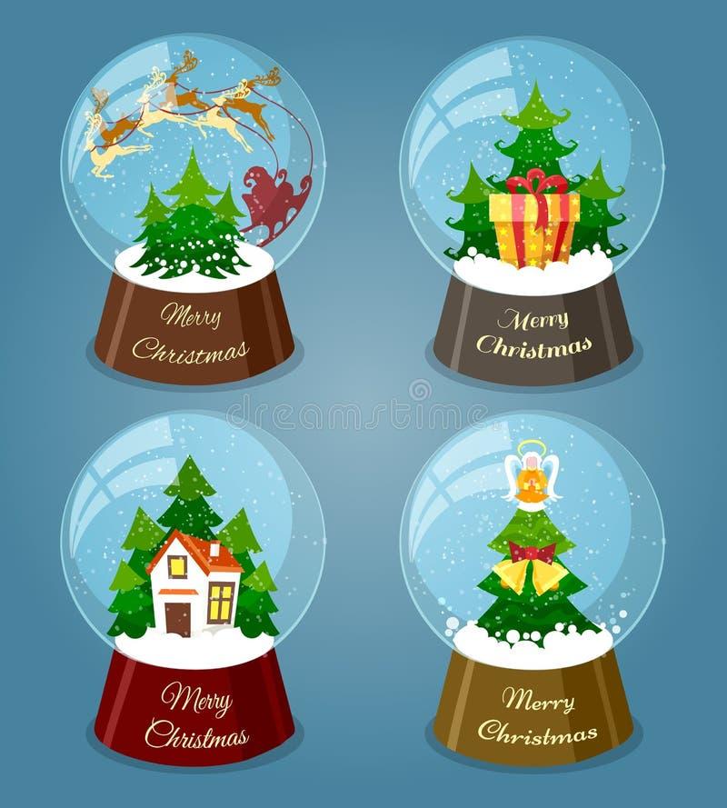 Weihnachtsschneebälle stock abbildung