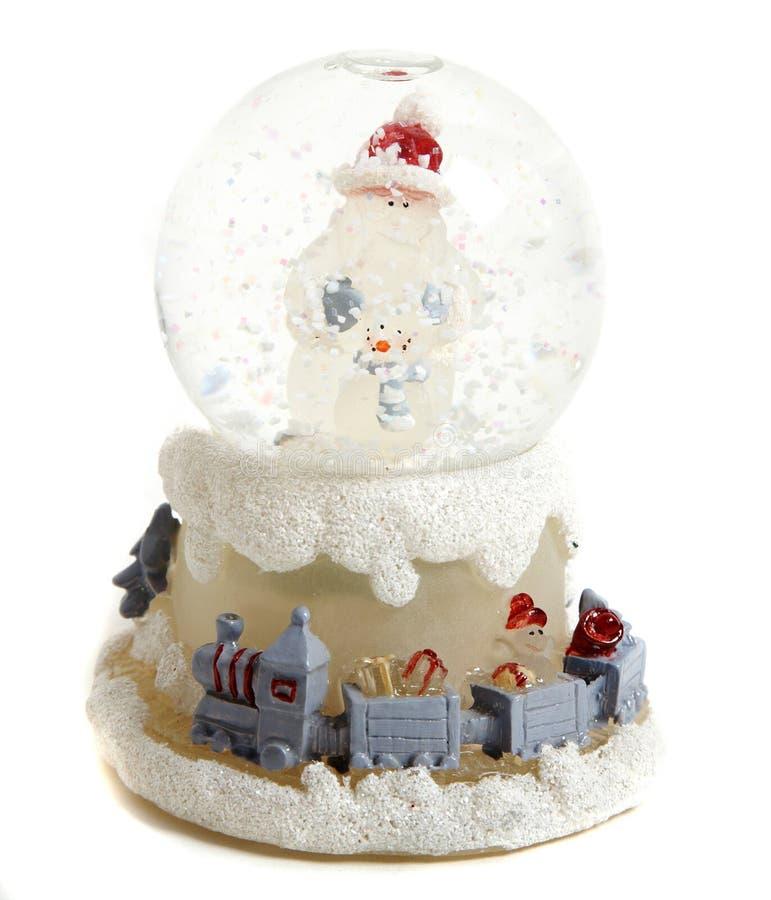 Weihnachtsschneeball stockbild