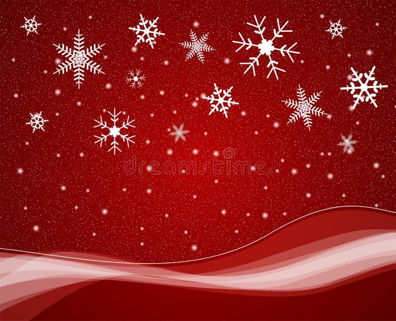Weihnachtsschneefälle stock abbildung
