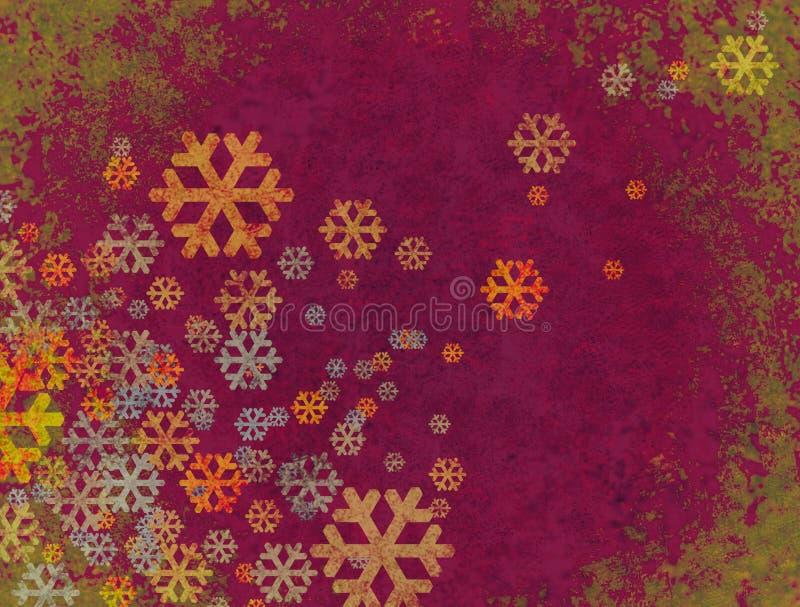 Weihnachtsschneefallen stock abbildung