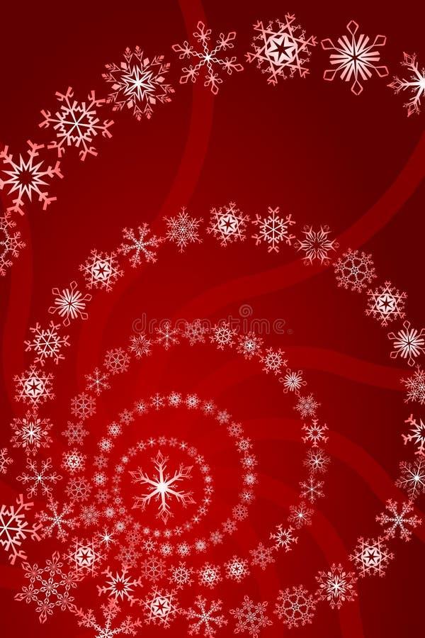 Weihnachtsschneeflocke-Dekoration stock abbildung