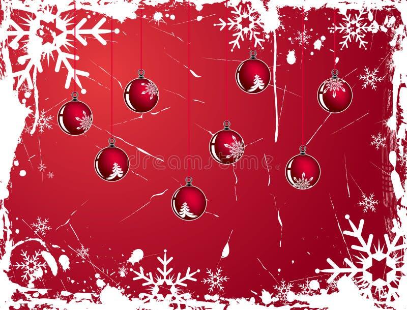 Weihnachtsschneeflocke grunge Hintergrund, Vektor lizenzfreie abbildung