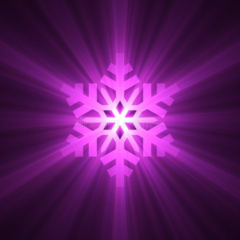Weihnachtsschneeflocke-Schneeaufflackern vektor abbildung