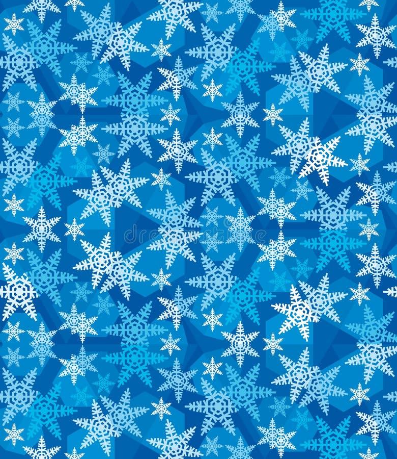Weihnachtsschneeflocken festliches Pattern_10 lizenzfreie stockfotografie