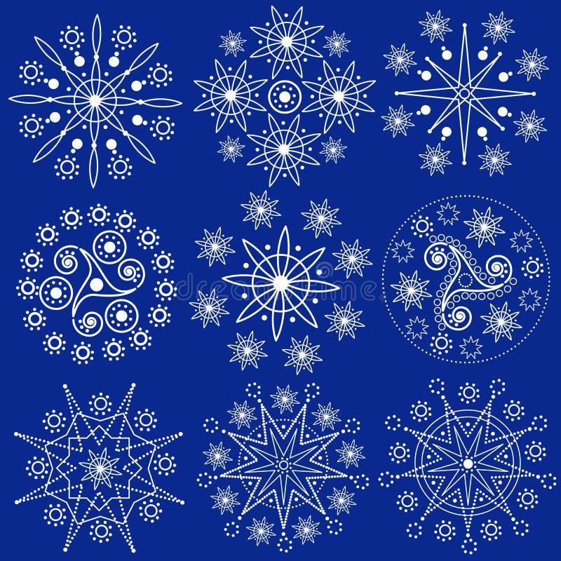 Weihnachtsschneeflocken (Vektor) stock abbildung