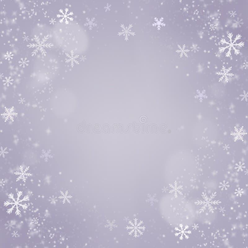 Weihnachtsschneeflockenhintergrund. Feiertags-Karte lizenzfreie stockfotos