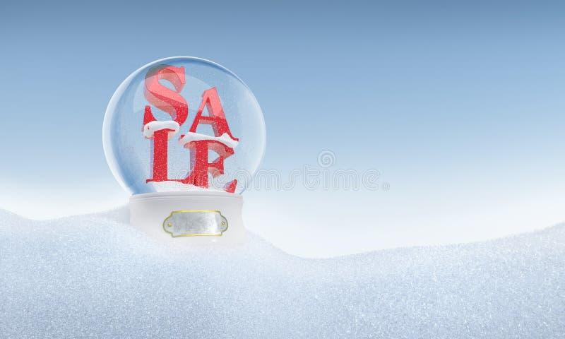 Weihnachtsschneekugel mit Wort Verkauf innerhalb 2016 lizenzfreies stockbild