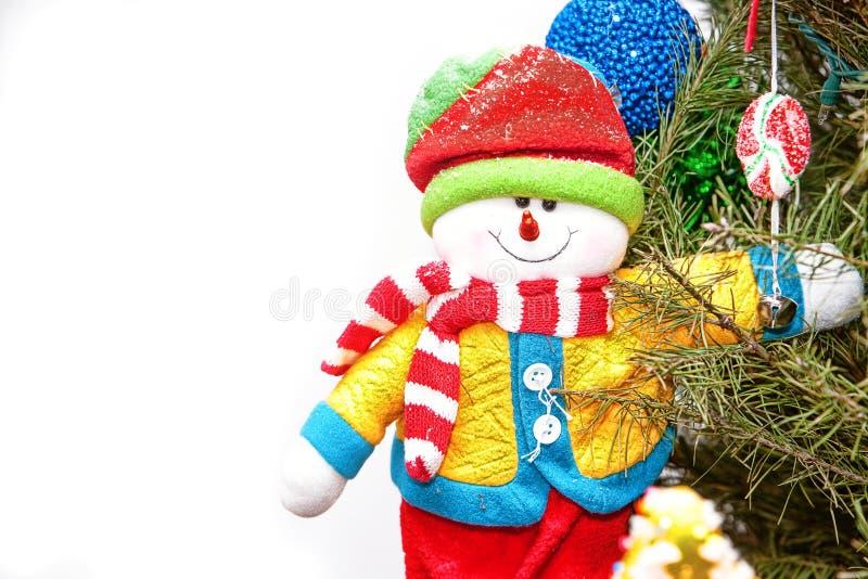 Weihnachtsschneemann in drei stockfoto