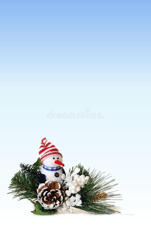 WeihnachtsSchneemann-Hintergrund 1 lizenzfreie stockfotos