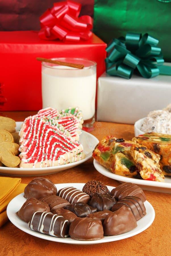 Weihnachtsschokoladen stockfotografie