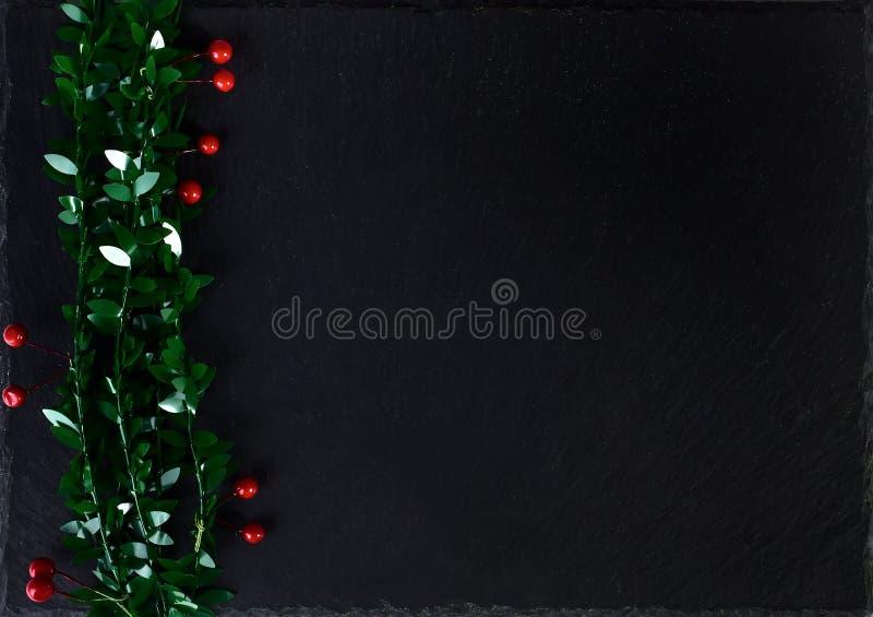 Weihnachtsschwarzer Hintergrund lizenzfreies stockfoto