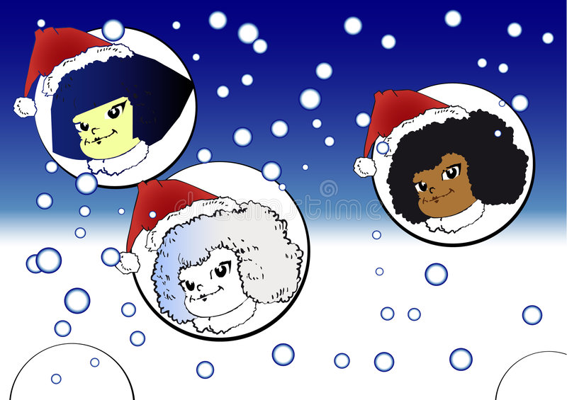 Weihnachtsserie - Kinder lizenzfreie abbildung