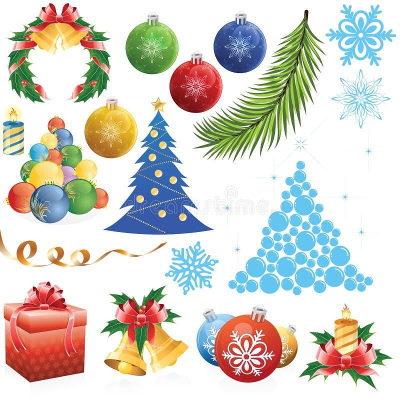 Weihnachtsset lizenzfreie abbildung