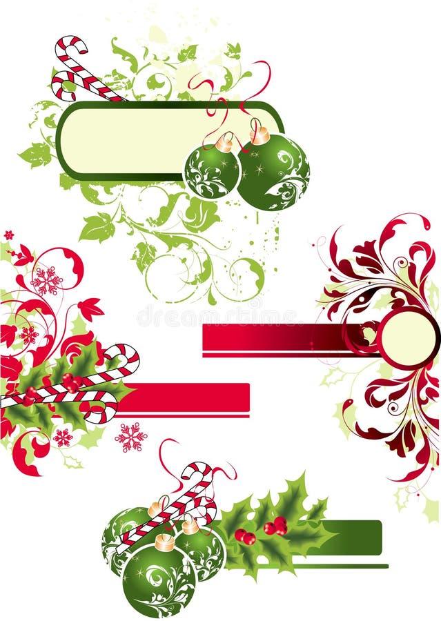 Weihnachtsset. lizenzfreie abbildung