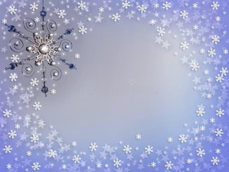 Weihnachtssilberner Verzierung-Schnee vektor abbildung