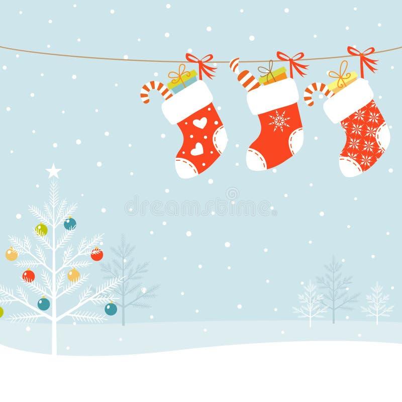 Weihnachtssocken lizenzfreie abbildung