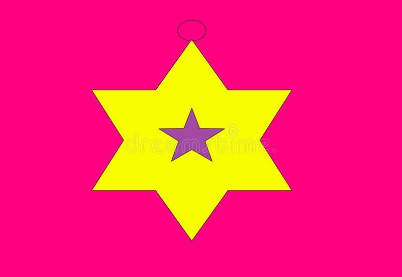 Weihnachtsspielzeug in Form eines Sternes stockfotos