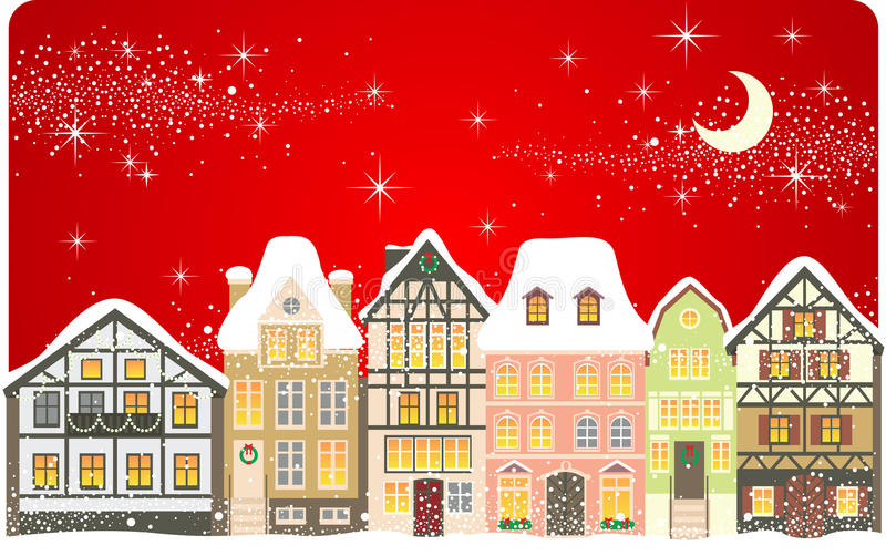 Weihnachtsstadt vektor abbildung